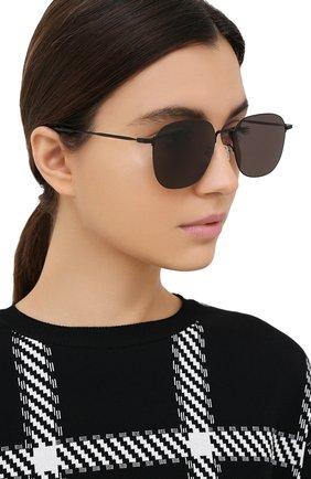 Женские солнцезащитные очки SAINT LAURENT черного цвета, арт. SL 388/K WIRE 002 | Фото 2
