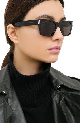 Женские солнцезащитные очки SAINT LAURENT черного цвета, арт. SL 402 001 | Фото 2