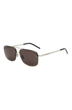 Женские солнцезащитные очки SAINT LAURENT черного цвета, арт. SL 417 001 | Фото 1