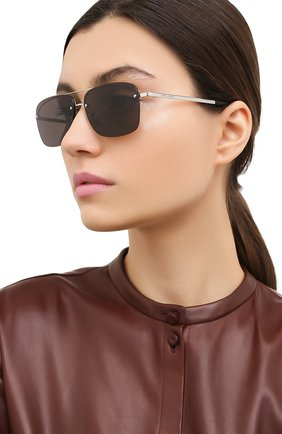 Женские солнцезащитные очки SAINT LAURENT черного цвета, арт. SL 417 001 | Фото 2