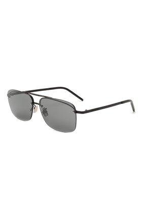 Женские солнцезащитные очки SAINT LAURENT серого цвета, арт. SL 417 002 | Фото 1 (Тип очков: С/з; Оптика Гендер: оптика-унисекс; Очки форма: Прямоугольные)