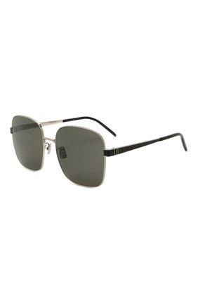 Женские солнцезащитные очки SAINT LAURENT черного цвета, арт. SL M75 001 | Фото 1