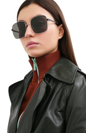 Женские солнцезащитные очки SAINT LAURENT черного цвета, арт. SL M75 001 | Фото 2