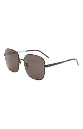 Женские солнцезащитные очки SAINT LAURENT черного цвета, арт. SL M75 002 | Фото 1