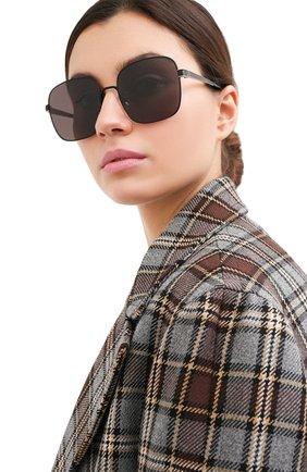 Женские солнцезащитные очки SAINT LAURENT черного цвета, арт. SL M75 002 | Фото 2