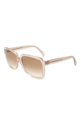 Женские солнцезащитные очки CELINE EYEWEAR бежевого цвета, арт. CL40146I 73F | Фото 1
