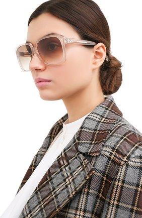 Женские солнцезащитные очки CELINE EYEWEAR бежевого цвета, арт. CL40146I 73F | Фото 2