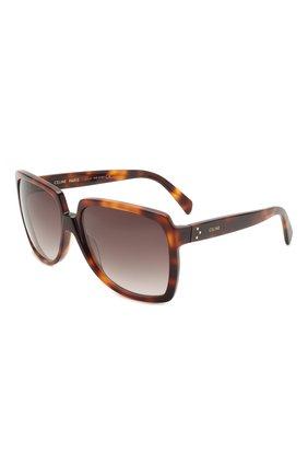 Женские солнцезащитные очки CELINE EYEWEAR коричневого цвета, арт. CL40146I 53K | Фото 1