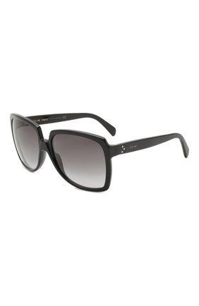 Женские солнцезащитные очки CELINE EYEWEAR черного цвета, арт. CL40146I 01B | Фото 1