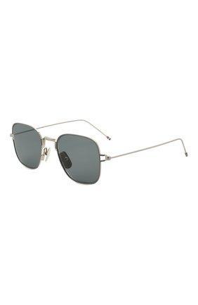 Мужские солнцезащитные очки THOM BROWNE серебряного цвета, арт. TB-116-01   Фото 1