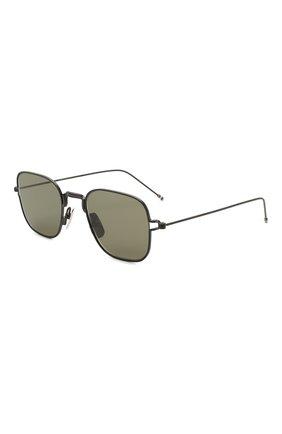 Мужские солнцезащитные очки THOM BROWNE черного цвета, арт. TB-116-03 | Фото 1