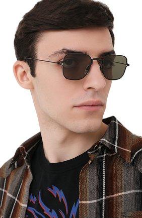 Мужские солнцезащитные очки THOM BROWNE черного цвета, арт. TB-116-03 | Фото 2