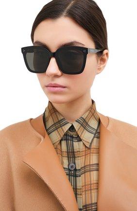 Женские солнцезащитные очки GENTLE MONSTER черного цвета, арт. DREAMER17 01 | Фото 2
