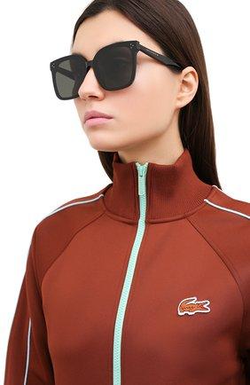 Женские солнцезащитные очки GENTLE MONSTER черного цвета, арт. HER 01 | Фото 2