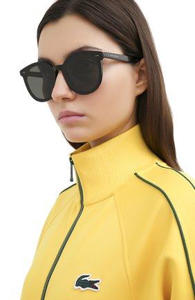 Женские солнцезащитные очки GENTLE MONSTER черного цвета, арт. S0L0 01 | Фото 2