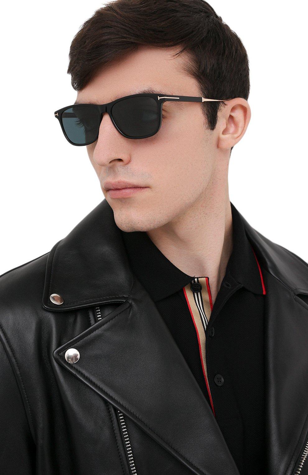 Мужские солнцезащитные очки TOM FORD синего цвета, арт. TF813 01V | Фото 2