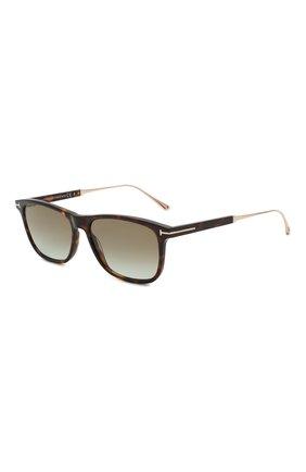 Мужские солнцезащитные очки TOM FORD коричневого цвета, арт. TF813 52G | Фото 1