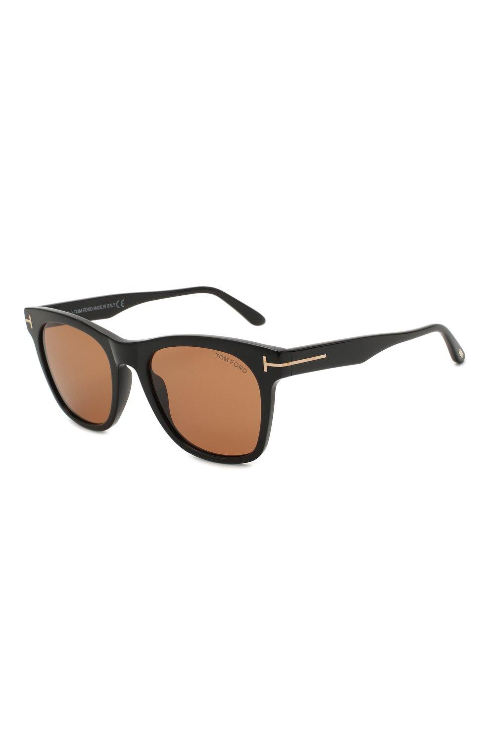 Мужские солнцезащитные очки TOM FORD коричневого цвета, арт. TF833 01E   Фото 1