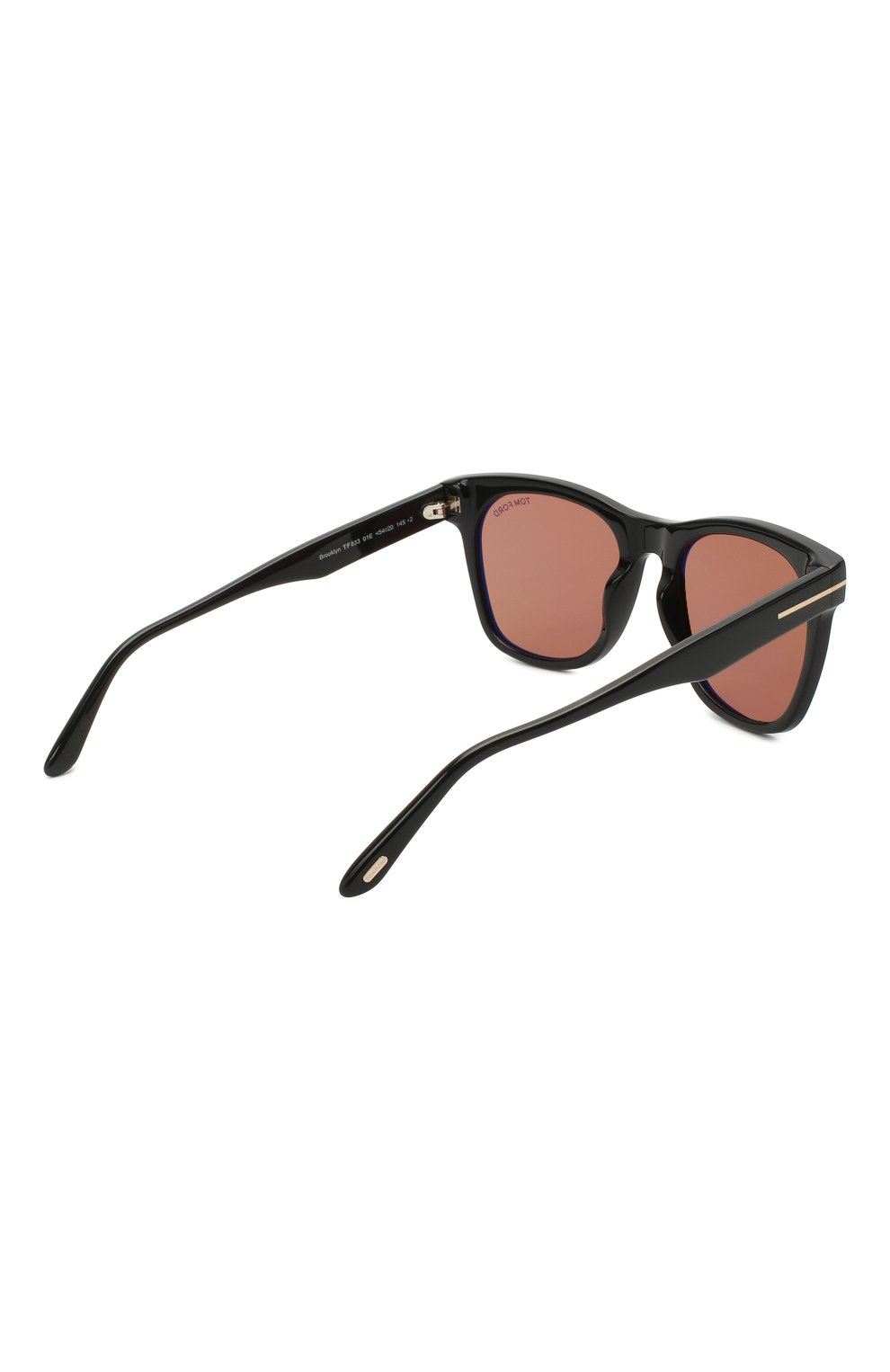 Мужские солнцезащитные очки TOM FORD коричневого цвета, арт. TF833 01E   Фото 4