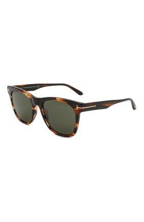 Мужские солнцезащитные очки TOM FORD коричневого цвета, арт. TF833 56N | Фото 1