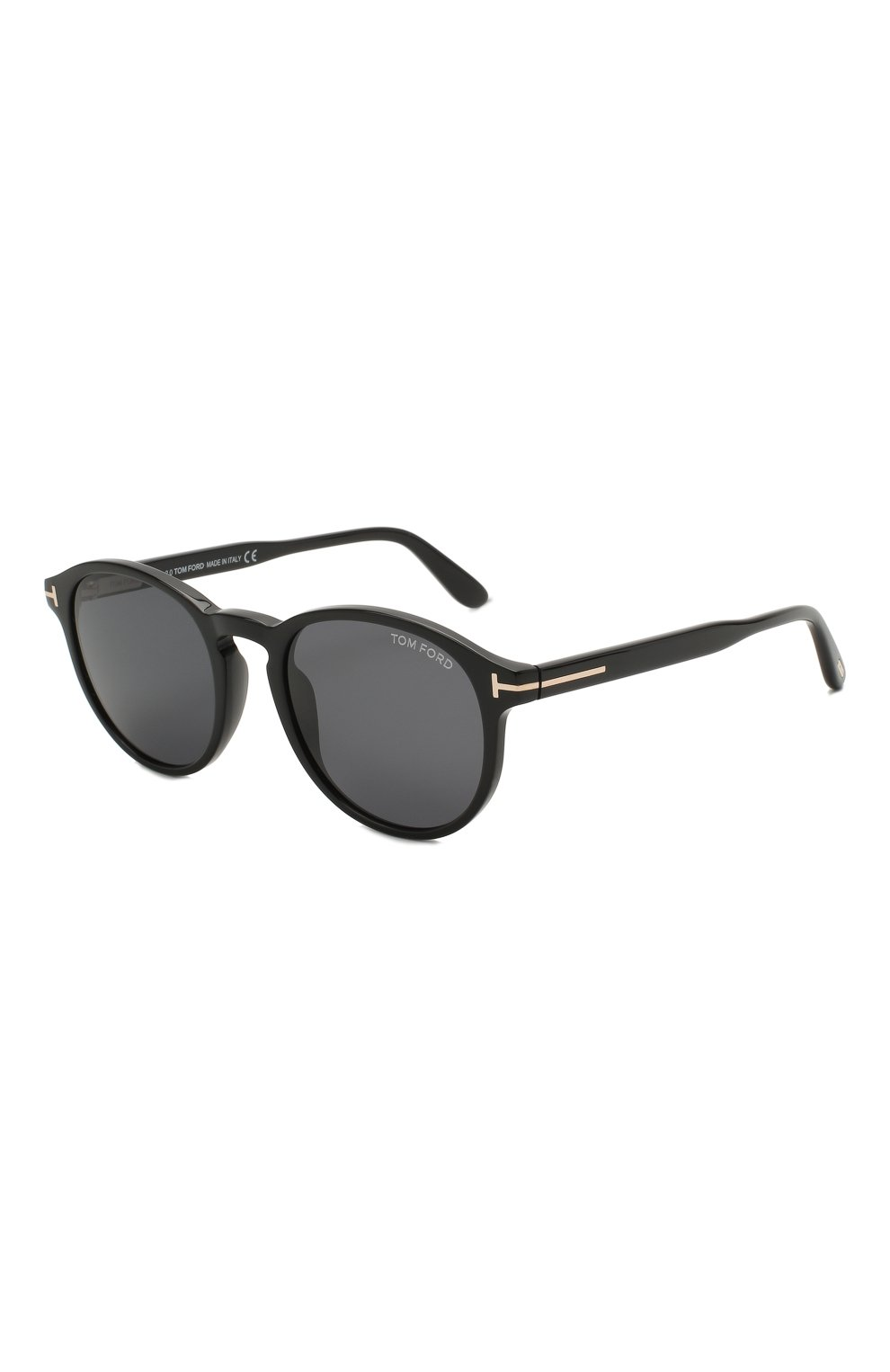 Мужские солнцезащитные очки TOM FORD черного цвета, арт. TF834 01A | Фото 1