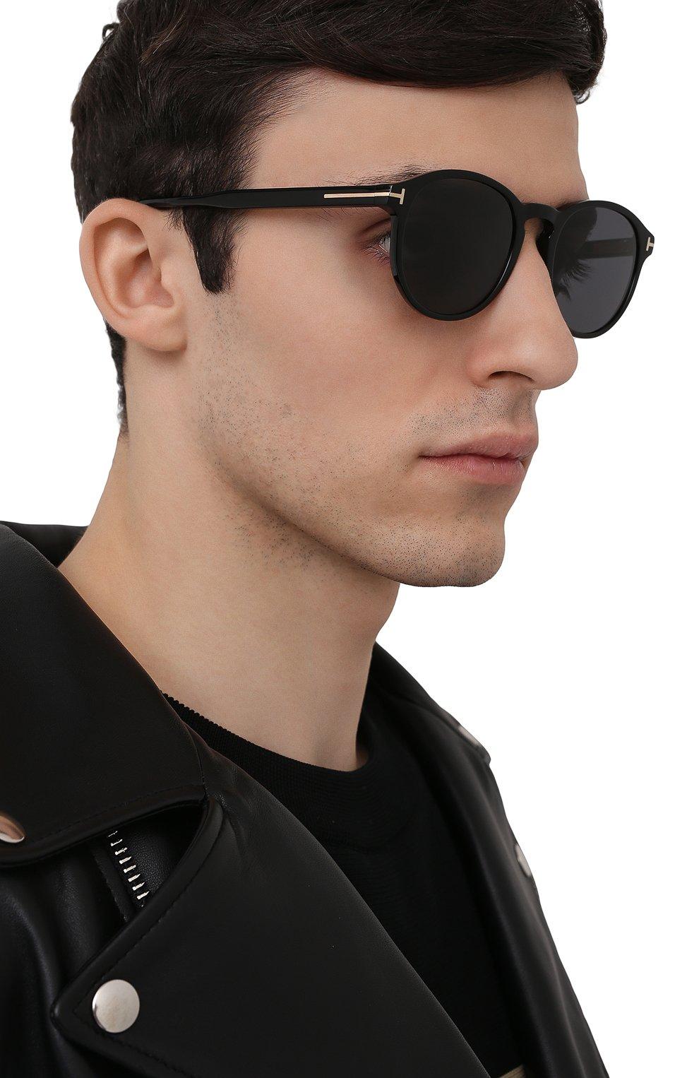Мужские солнцезащитные очки TOM FORD черного цвета, арт. TF834 01A | Фото 2