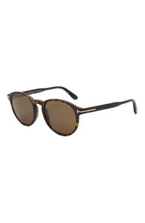 Мужские солнцезащитные очки TOM FORD коричневого цвета, арт. TF834 52M | Фото 1