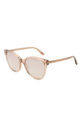 Женские солнцезащитные очки TOM FORD бежевого цвета, арт. TF844 45G | Фото 1