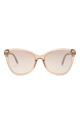 Женские солнцезащитные очки TOM FORD бежевого цвета, арт. TF844 45G | Фото 2