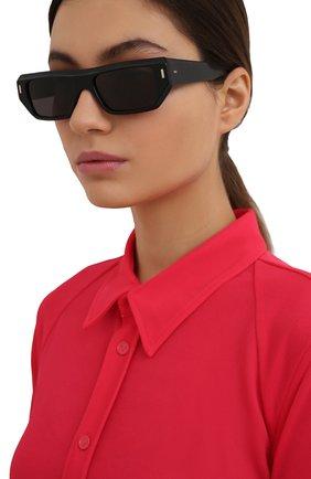 Женские солнцезащитные очки CUTLERANDGROSS черного цвета, арт. 136701 | Фото 2