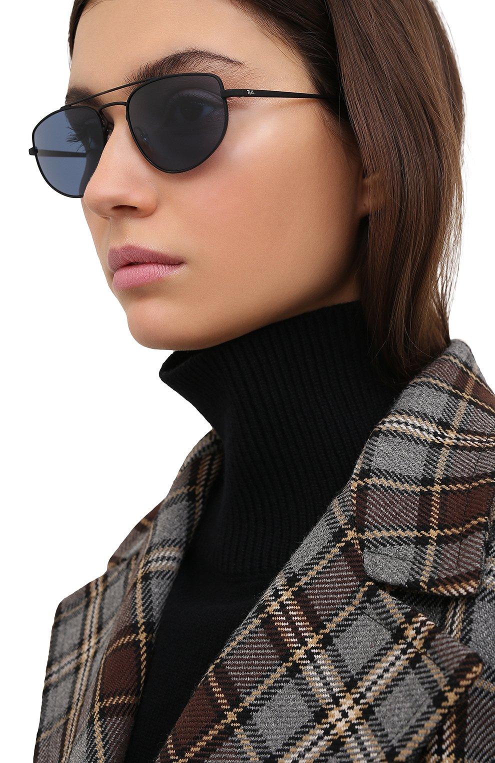 Женские солнцезащитные очки RAY-BAN черного цвета, арт. 3668-901480   Фото 2