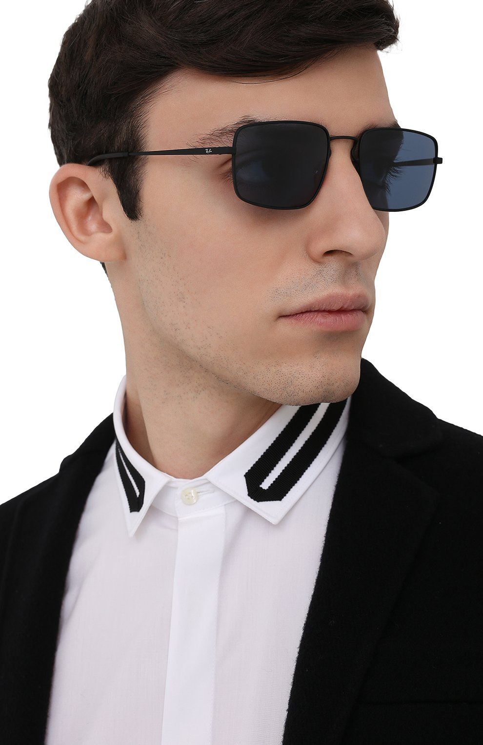 Женские солнцезащитные очки RAY-BAN черного цвета, арт. 3669-901480 | Фото 3