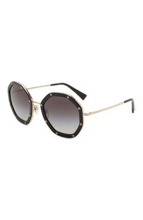 Женские солнцезащитные очки VALENTINO черного цвета, арт. 2042-30038G | Фото 1 (Тип очков: С/з; Очки форма: Креативные; Оптика Гендер: оптика-женское)