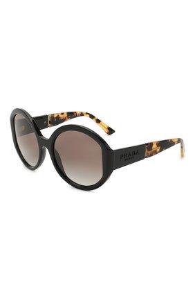 Женские солнцезащитные очки PRADA черного цвета, арт. 22XS-1AB0A7 | Фото 1