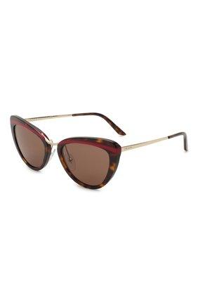 Женские солнцезащитные очки PRADA коричневого цвета, арт. 25XS-32006B | Фото 1