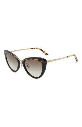 Женские солнцезащитные очки PRADA черного цвета, арт. 25XS-3890A7   Фото 1