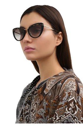 Женские солнцезащитные очки PRADA черного цвета, арт. 25XS-3890A7   Фото 2