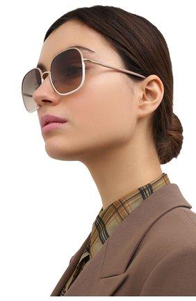 Женские солнцезащитные очки PRADA темно-бежевого цвета, арт. 67XS-09G3D0 | Фото 2
