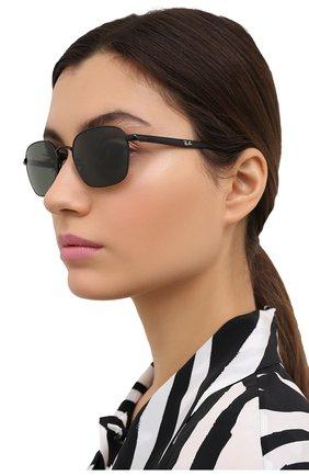 Женские солнцезащитные очки RAY-BAN черного цвета, арт. 3664-002/31 | Фото 2