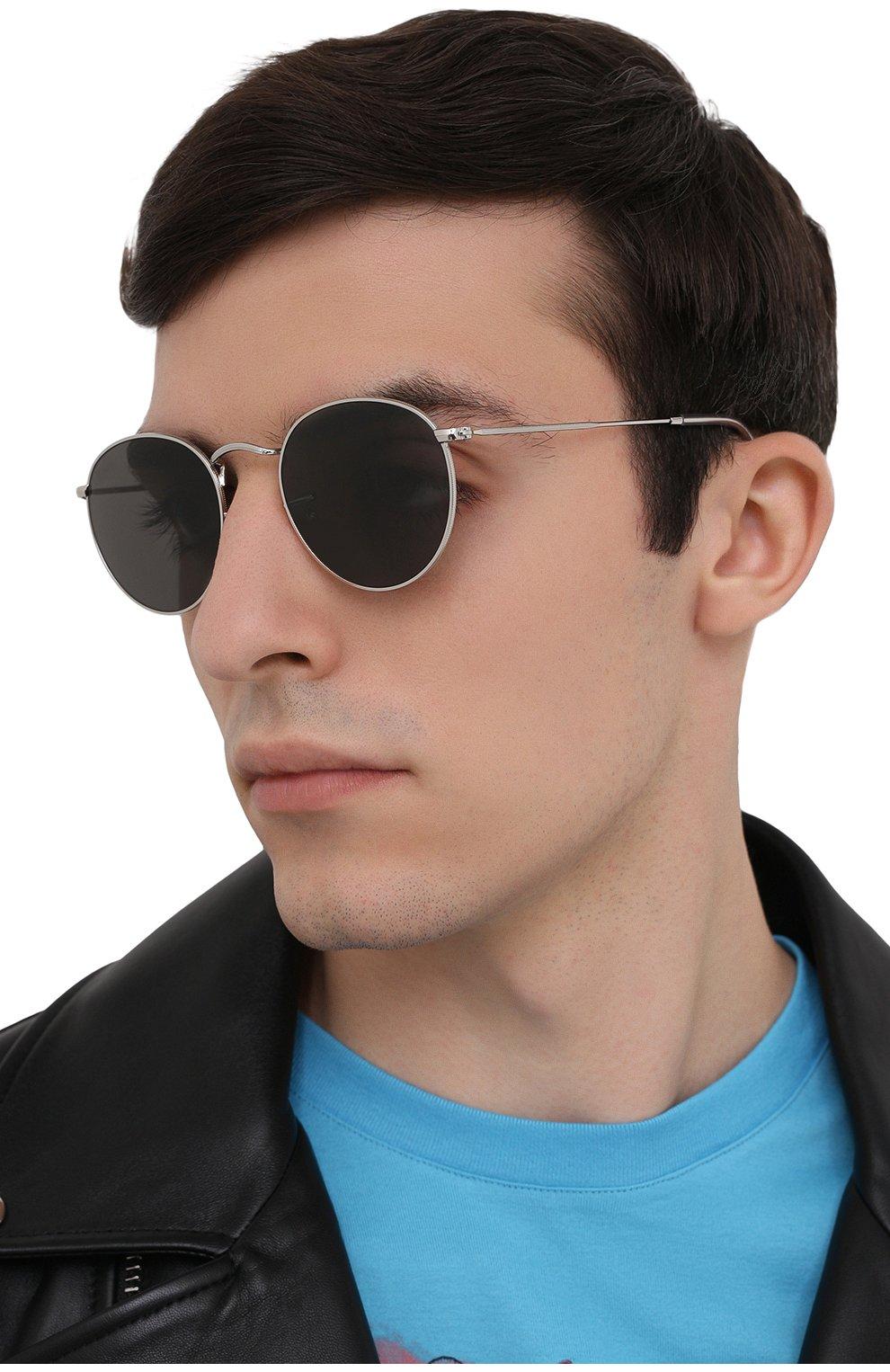 Женские солнцезащитные очки RAY-BAN серого цвета, арт. 3447-9198B1   Фото 3