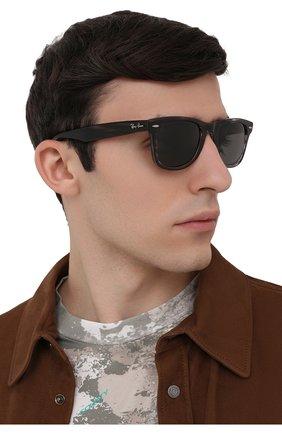 Женские солнцезащитные очки RAY-BAN темно-серого цвета, арт. 4340-6430B1 | Фото 3