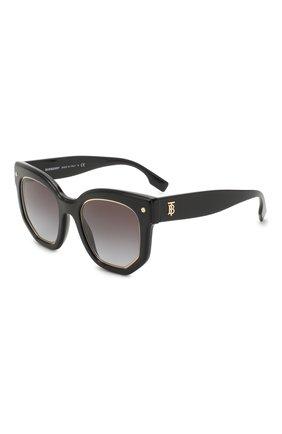 Женские солнцезащитные очки BURBERRY черного цвета, арт. 4307-30018G | Фото 1