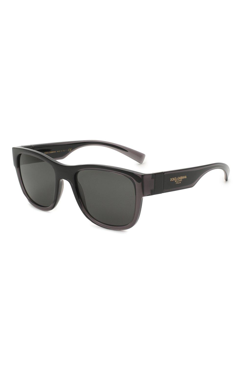 Мужские солнцезащитные очки DOLCE & GABBANA черного цвета, арт. 6132-325787 | Фото 1