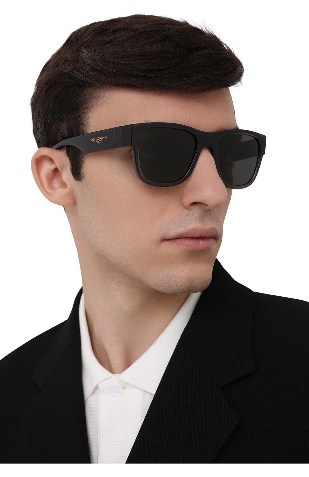Мужские солнцезащитные очки DOLCE & GABBANA черного цвета, арт. 6132-325787 | Фото 2