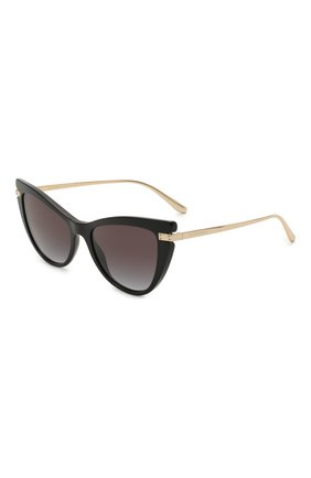 Женские солнцезащитные очки DOLCE & GABBANA черного цвета, арт. 4381-501/8G   Фото 1