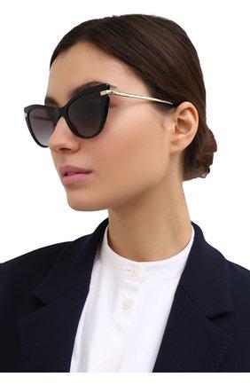 Женские солнцезащитные очки DOLCE & GABBANA черного цвета, арт. 4381-501/8G   Фото 2