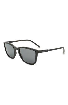 Мужские солнцезащитные очки DOLCE & GABBANA темно-серого цвета, арт. 6145-32936G | Фото 1