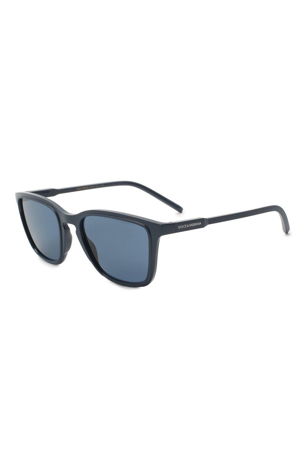 Мужские солнцезащитные очки DOLCE & GABBANA синего цвета, арт. 6145-329480   Фото 1
