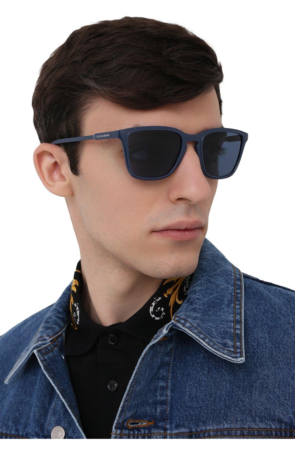 Мужские солнцезащитные очки DOLCE & GABBANA синего цвета, арт. 6145-329480   Фото 2