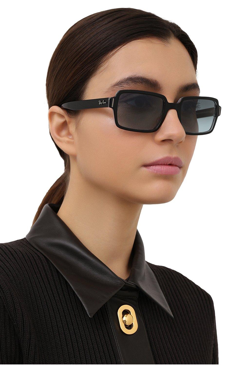 Женские солнцезащитные очки RAY-BAN черного цвета, арт. 2189-12943M | Фото 2